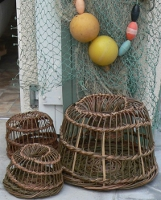 Traditional lobster pots